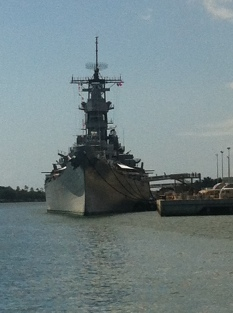 One of the last remaining battleships. This ship was used in the movie Battlship