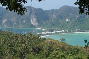 The famous isthmus of the stunning Phi Phi Don