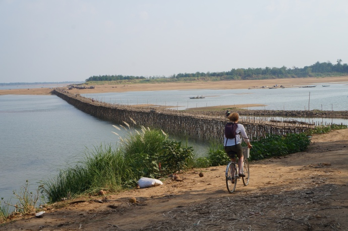 The Bamboo Bridge, rebuilt after every wet season